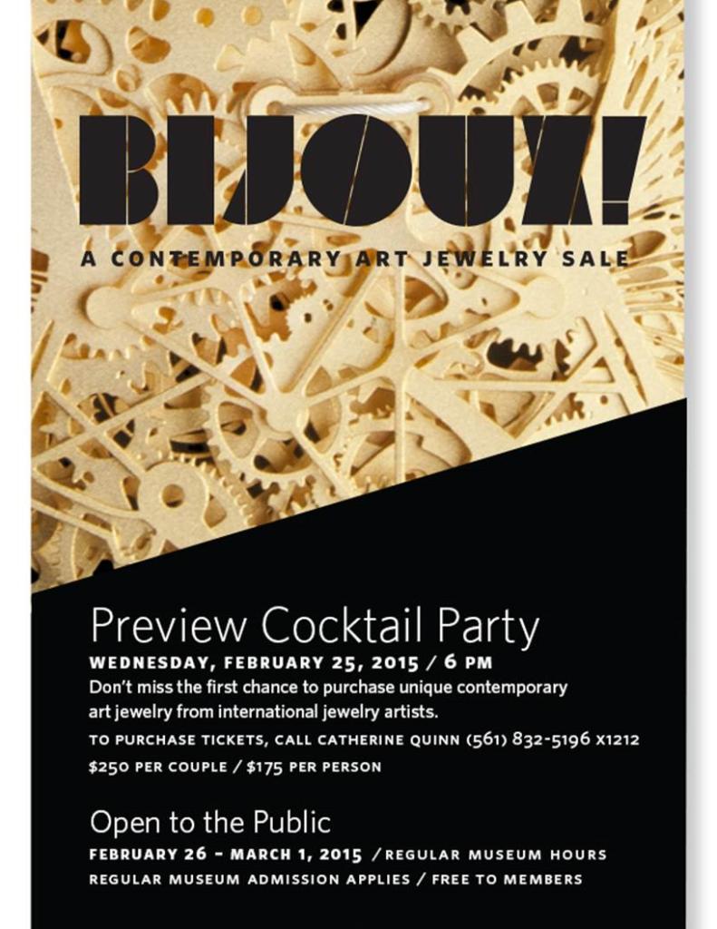 Bijoux Contemporary Art Jewelry Sale