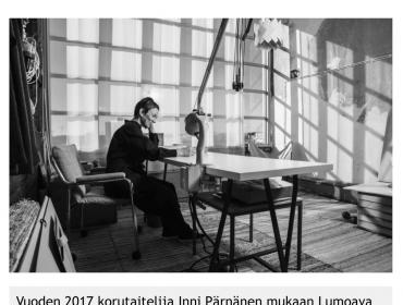 Vuoden 2017 korutaiteilija Inni Pärnänen Lumoava suunnittelijatiimiin